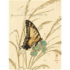 Carte d'art papillon jaune