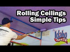 How To Paint A Ceiling With A Roller. Painting A Ceiling. - YouTube
