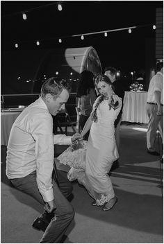 Newly weds dance at wedding reception | Newport Beach | Orange County | Brooke Bakken Wedding Photgrapher