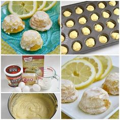 LITTLE LEMON DROPS 1 box lemon cake mix 1 pkg (3.4 oz) instant vanilla pudding mix 4 large eggs 1 1/4 cups sour cream (I actually didn't have quite enough sour cream so I used half sour cream/half vanilla yogurt and it worked great!) 1/2 cup milk  For full directions head to butter with a side of bread! Related