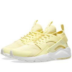 Buy the Nike Air Huarache Run Ultra BR in Lemon Chiffon Summit White from leading mens fashion retailer END. only Fast shipping on all latest Nike products Huarache Run, Nike Huarache Women, Nike Air Huarache Ultra, Nike Shoes Huarache, Zapatos Nike Air, Nike Air Shoes, Nike Shoes Outlet, Sneakers Nike, Allbirds Shoes