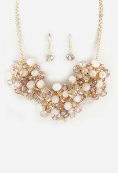 Bobbi Necklace in Champagne Crystal