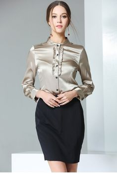 Best 50 Skirts and Blouse For Work Outfits Ideas. For Women outfit work wear is quite simply carrying a dress. Skirt and Blouse set square measure the foremost attractive work outfits for workplace girls. Blouse Sexy, Blouse And Skirt, Work Blouse, Blouse Dress, Skirt Suit, Cool Summer Outfits, Summer Outfits Women, Work Outfits, Plus Size Shirts