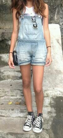 Dungarees + converse = perfection ♡