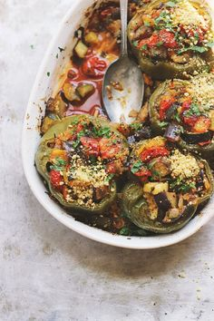 Ratatouille Stuffed Peppers | @withfoodandlove