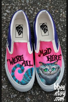 Vans with The Chesire Cat