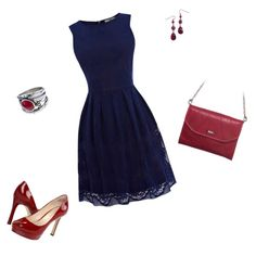 """""""Navy Blue Dress"""" by mary-harriman-thew on Polyvore"""