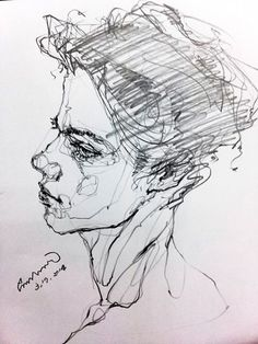 Portrait drawing by Saera
