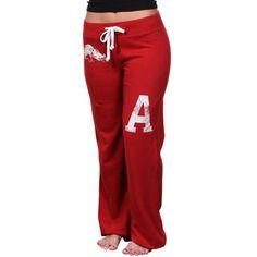 Arkansas Razorbacks Womens Relaxed Sweatpants - Cardinal