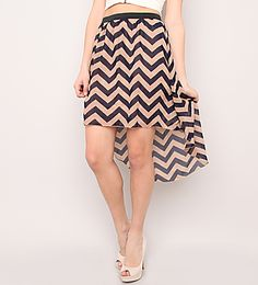 HIGH-LOW CHIFFON SKIRT- VARIOUS PRINTS