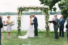 """26 Floral Arches that Will Make You Say, """"I Do"""" - Style Me Pretty"""