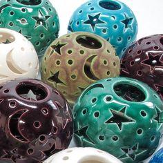 Emerald Green Candle holder, Handmade Pottery, THE ORIGINAL Ceramics Star Candileria™