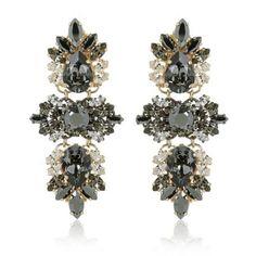 Anton Heunis Schmuck – Crystal Cluster Drop Earrings Glossy Black…
