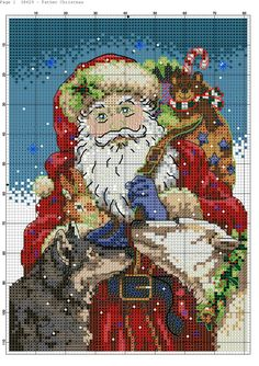 123 Cross Stitch, Santa Cross Stitch, Cross Stitch Tree, Cross Stitch Charts, Cross Stitch Designs, Cross Stitch Patterns, Cross Stitching, Cross Stitch Embroidery, Embroidery Patterns