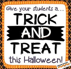 Looking for a fun and educational way to celebrate Halloween in your classroom?  Then, youll love the activities in this resource that give your students a trick AND treat.In this resource youll find a Halloween Fun activity.  This one is the TRICK.  In this activity students need to read the instructions very carefully.