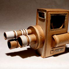 Cardboard cameras by Kiel Johnson, love to give it a shot, cool