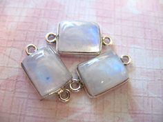 5 Off Shop Sale MOONSTONE Gemstone Connectors by FabulousRocks, $5.50
