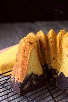 Pumpkin Chocolate Marble Pound Cake
