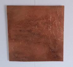 2018 - Acryl auf Leinwand 40 x 40 cm Mint, Bronze, Abstract, Canvas, Peppermint