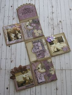 Cathy - Mini album matchbox with Majadesign papers...: