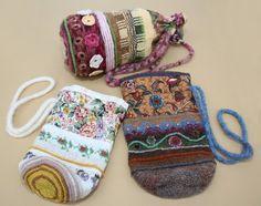 Peony and Parakeet: folk bags