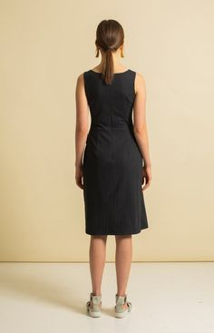 Sand Dress Coal Black - TAUKO Wrap Jumpsuit, Sustainable Fashion, Skirts, Model, Cotton, How To Wear, Shopping, Collection, Black