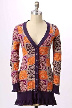 NWT $168 Anthropologie Sleeping on Snow Blooming Jacquard Cardigan Sweater S #SleepingonSnow #CardiganSweater