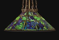 Bid in-person or online for the upcoming auction:Important Century Decorative Art & Design on 5 June 2007 at New York Leaded Glass, Stained Glass, Louis Comfort Tiffany, Bronze Chandelier, Tiffany Glass, Arts And Crafts Movement, Vintage Lamps, Glass Design, Chandeliers