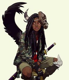 Lewa Okunkun by Pahn Da Blac Black Girl Art, Black Women Art, Art Girl, Black Girls, Character Design Cartoon, Character Design Inspiration, Character Art, Character Creation, Character Concept
