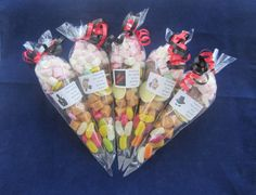 Personalised pre filled Spy/secret agent 75g sweet cones/party bag fillers