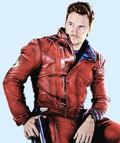 "Chris Pratt as Star-Lord, ""Guardians of the Galaxy."" ""Something good, something bad. A bit of both."""