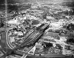 Berlin Anhalter Bahnhof - Luftaufnahme nach Kriegsende (1948)