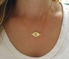 Check out this item in my Etsy shop https://www.etsy.com/il-en/listing/253485813/evil-eye-necklace-opal-necklace-opal