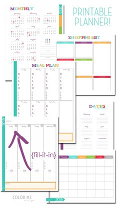 printable planner 2015 fill it in