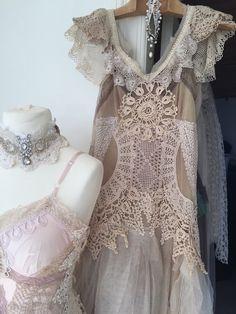 Fairy alternative wedding  beach wedding Victorian  by RAWRAGSbyPK
