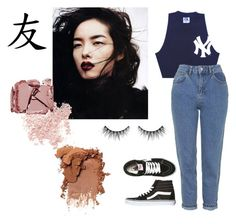 """Chinese Friend In NY"" by aayeshaofficial on Polyvore featuring Topshop, Vans, Bare Escentuals and Surratt"