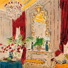 Fabulous Cecil Beaton watercolor: seems like I like Cecil Beaton. Wish I could paint like this!