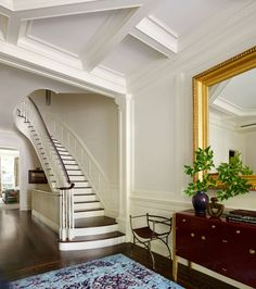 An Elegant New York Townhouse Is Reborn Photos | Architectural Digest #ceiling