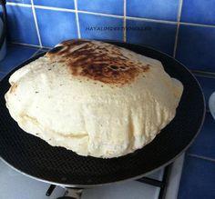 Tavada Lavas Ekmek Yapimi