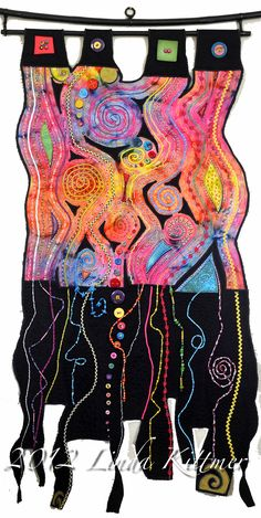 Linda Kittmer: Spirals, Lines Serendipity One of my favorite textile artists from Burlington, Onario