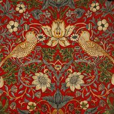 William Morris Strawberry Thief Crimson