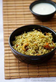 Pudina Rice Recipe - Mint Rice Recipe - Easy Lunch Box Recipes   Indian Cuisine