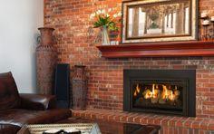 Make: Kozy Heat Model: Chaska 29 Rock Type: Gas Insert Living Room Decor Fireplace, Fireplace Furniture, Fireplace Vent, Fireplace Design, Gas Fireplaces, Modern Gas Fireplace Inserts, Kozy Heat, Gas Insert, Shops