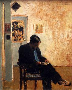 Édouard Vuillard - The Reader (Romain Coolus), 1897/99