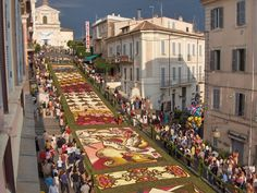 If I could be anywhwere, I would stay in Genzano of Roma to see the Infiorata, a beautiful carpet made of flowers...