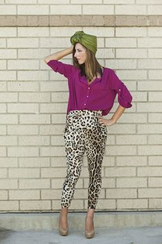 Color blocking with prints too.