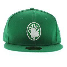 Gray and Green Celtics Shirt | New Era Cap Boston Celtics Kelly Green With Gray Under Visor 59FIFTY