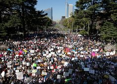 Thousands march on CA Capitol to protest cuts in college funding
