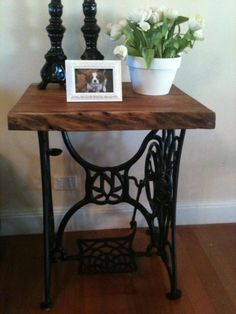old sewing machine table legs Table