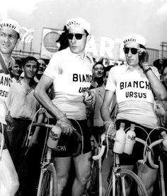 Fausto Coppi with team mates at the 1950 Giro. http://www.cyclist.co.uk/in-depth/1156/off-the-bike-at-the-giro-ditalia-1909-2015#5